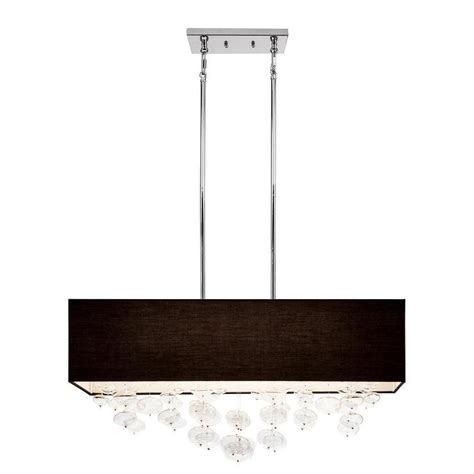 Rectangle Pendant Light Kichler Lighting Piat Collection 6 Light Chrome Rectangle Pendant Black Shade