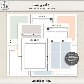 6x8 Folding Recipe Card Template by Cooking With Pocket Cards