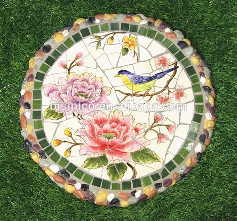 pattern for mosaic stepping stones ceramics mosaic stepping stone sunflower pattern paving