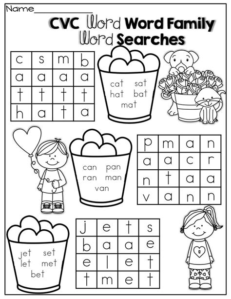 Cvc Word Family Worksheets by Best 20 Cvc Word Families Ideas On Cvc Words Vowel Activities And Vowel
