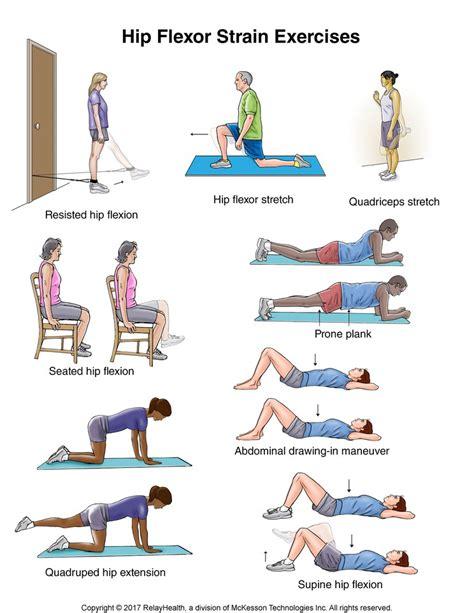 printable hip flexor stretches flexion exercises hip flexor strain pictures