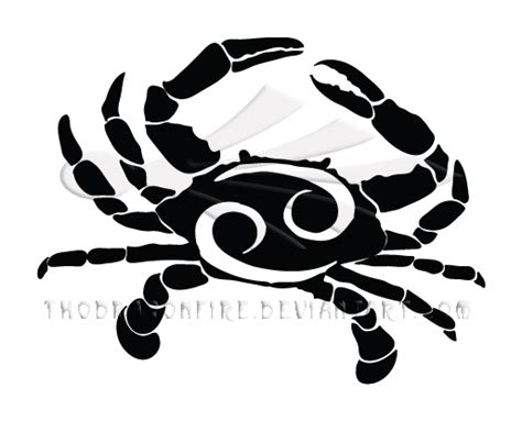 cancer zodiac tribal by boarfeathers on deviantart