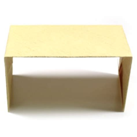 How To Make An Origami Desk - how to make a simple origami desk page 8
