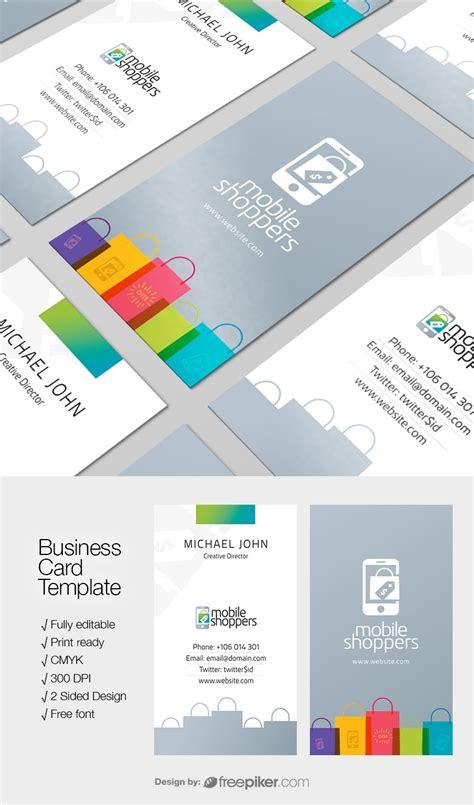 ecommerce business card template freepiker mobile shop ecommerce business card