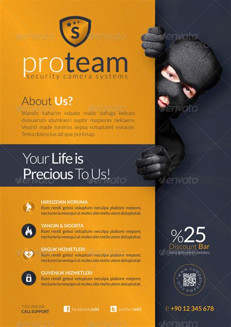 security company template security systems flyer template by grafilker graphicriver