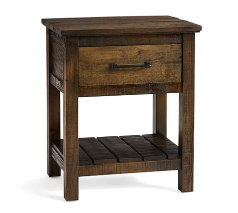 paulsen reclaimed wood nightstand pottery barn