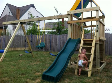 home built swing set mike s swing sets home