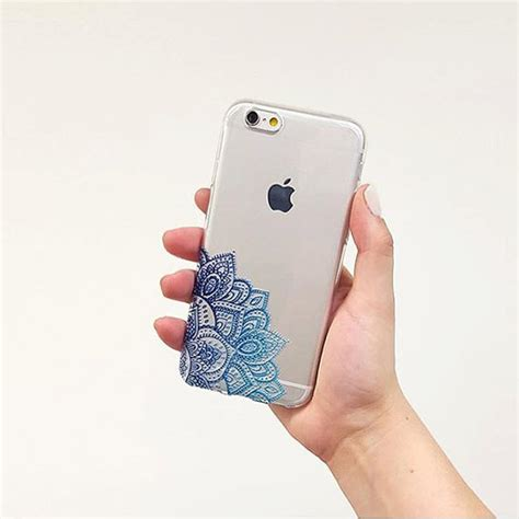 design henna phone case henna mandala iphone 6 case boho iphone cover blue design