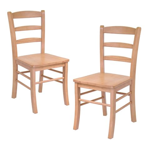 Dining Room Chairs Set Of 2 Dining Wood Side Chairs In Light Oak Finish Set Of 2 Ojcommerce