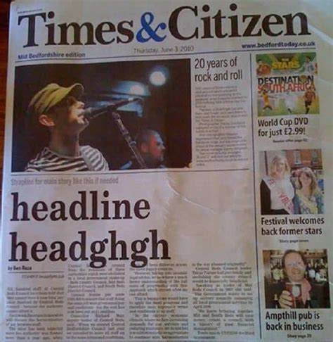 10 Silly Newspaper Headlines by 10 Mistakes Made By Newspapers