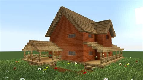 house building minecraft minecraft how to build big wooden house 2 youtube