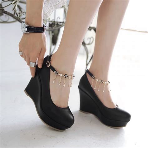 Boots Wedges Korea Style White 1000 ideas about white wedge shoes on white