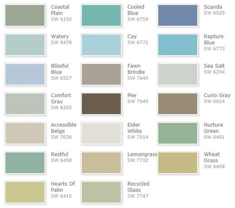 Cottage Paint Color Schemes by Best 25 Watery Paint Color Ideas On