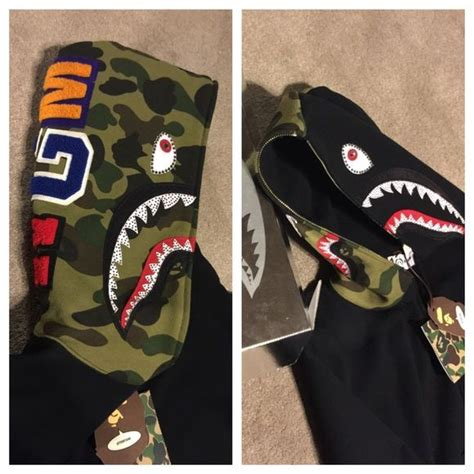 Jaket Hoodie Tgh Black Original bape hoodie boutique sharks swarovski crystals and