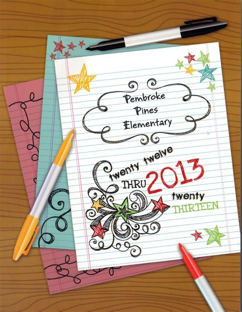 themes for book covers pembroke pines elementary yearbook cover elementary