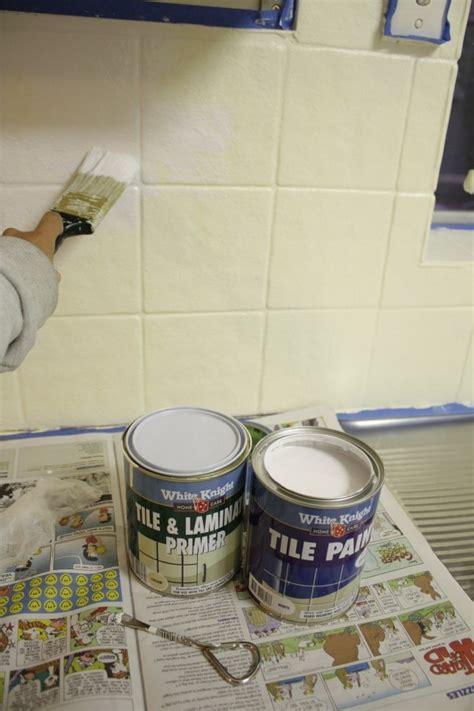 painting ceramic tile backsplash our budget kitchen makeover how to paint splashback tiles house house ideas