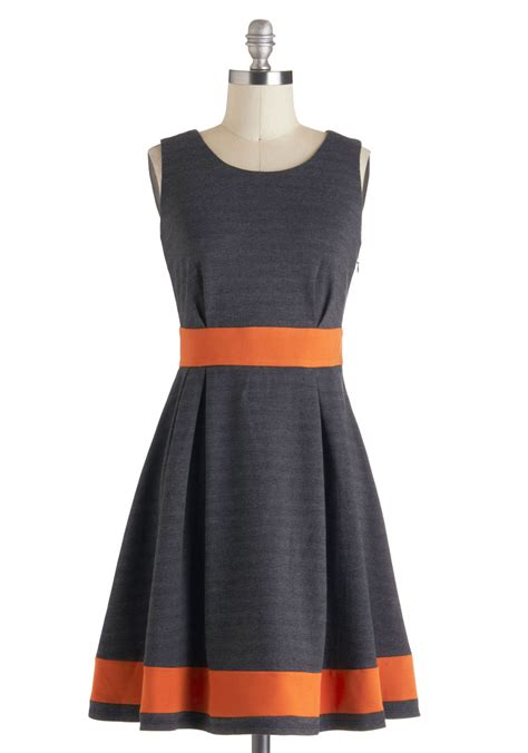 love orange and grey was talking to reese about beyond the tea time dress mod retro vintage dresses