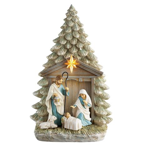 holy family tree nativity figurine by collections etc ebay