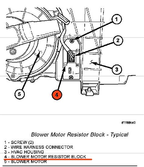 2004 dodge dakota blower motor resistor where is the blower resistor located on a 2004 dodge dakota