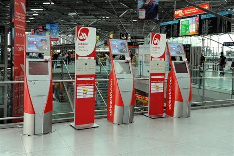 air berlin check inn bordkarte air berlin schafft den check in automaten ab
