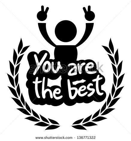 the best icon you are the best stock vector 136771322