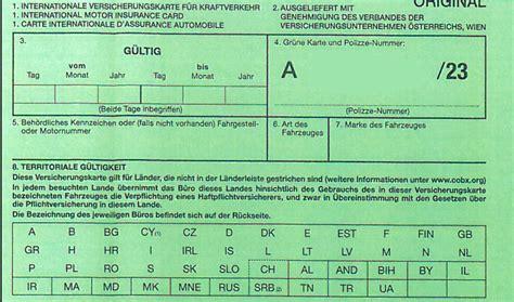 Auto Versicherung Grüne Karte by Mit Dem Auto Und Der Quot Gr 252 Nen Karte Quot In Den Urlaub