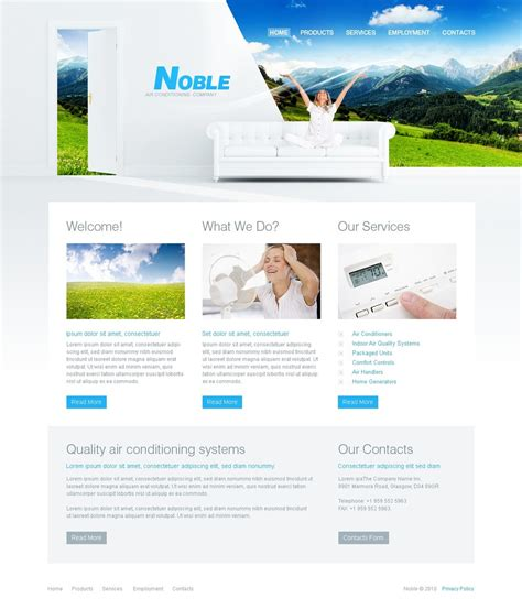 Air Conditioning Website Template 29540 Heating And Air Conditioning Website Templates