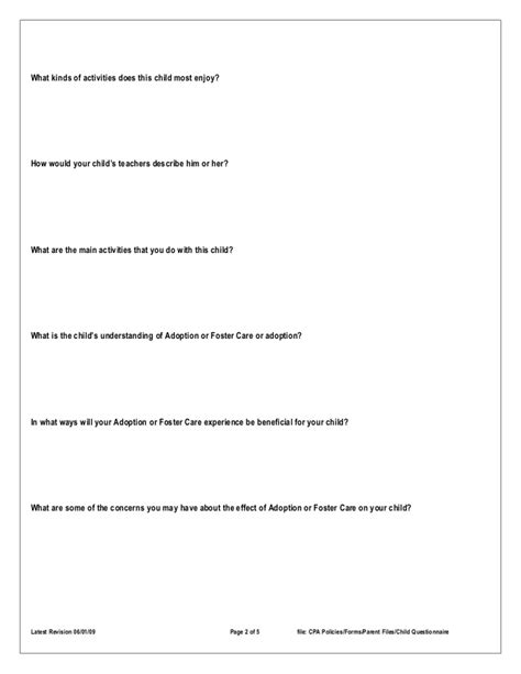 libro the adoption papers home study questionnaire child information