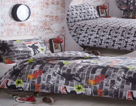 skateboard bedding reversible bedding duvet cover set tricks urban skateboard