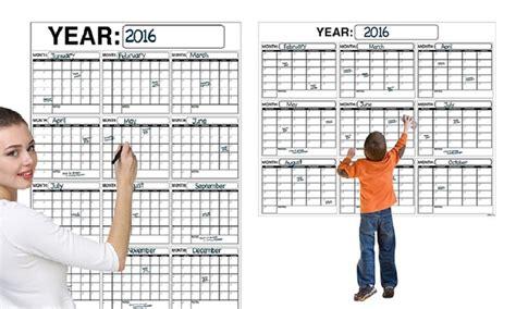 Deal Calendar Jumbo Erase Wall Calendars Groupon Goods