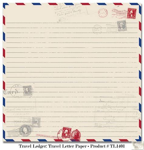 Letter Paper Teresa Collins Designs Travel Ledger Travel Letter Paper