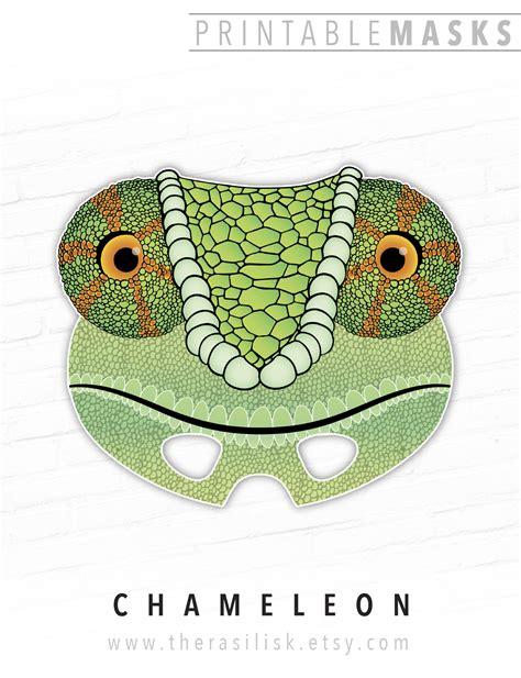printable lizard mask template printable mask halloween costume chameleon lizard mask