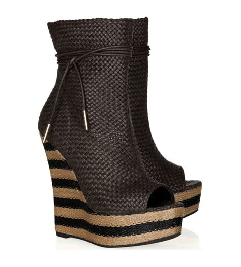 burberry striped wedge booties from 2012 bootsaholic