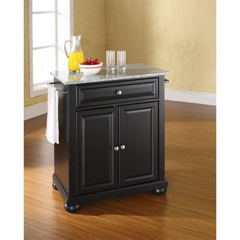 Crosley Alexandria Kitchen Island Crosley Furniture Alexandria Solid Granite Top Kitchen Island In Black Kf30023abk