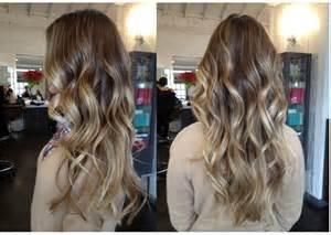Beachy waves hair color style2