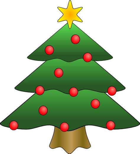 christmas tree clip art free vector in open office drawing