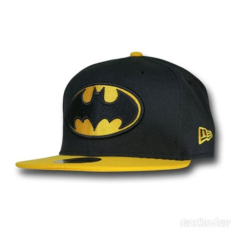 batman black yellow 59fifty cap front view
