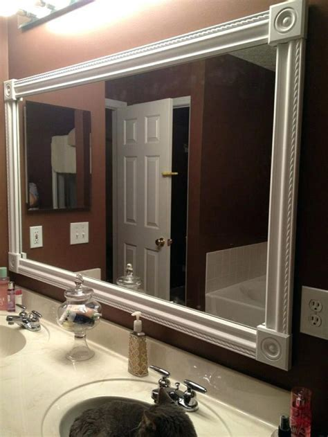 how to put a frame around a bathroom mirror crown molding mirror beechridgecs com