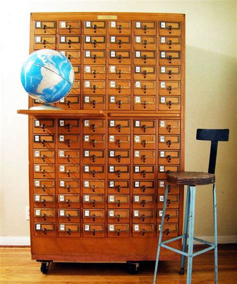 Card Catalog Drawers by Vintage 84 Drawer Maple Card Catalog Antiques Cards