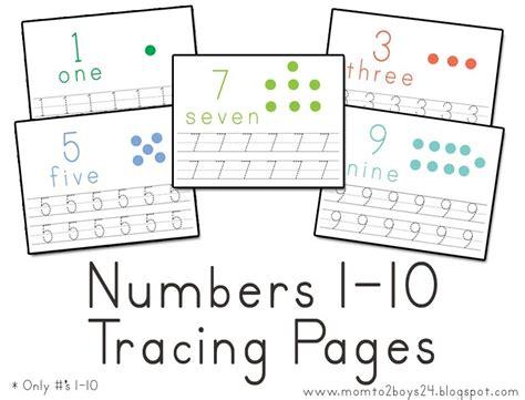 numbers 1 10 printable book lawteedah number s 1 10 tracing papers