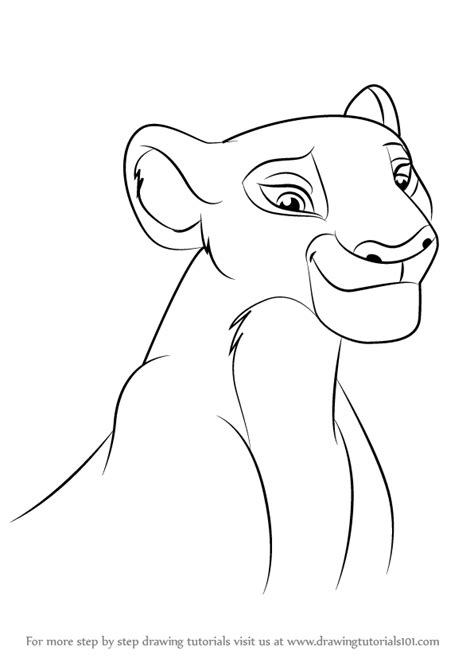 how to guard learn how to draw nala from the guard the guard step by step drawing