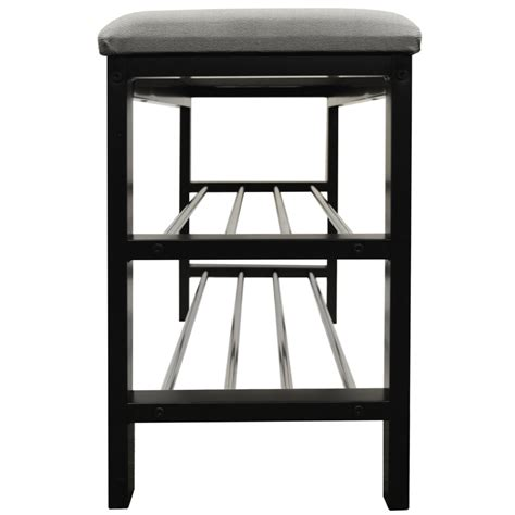 hallway shoe bench with padded seat static 2 tier shoe storage hallway bench with padded