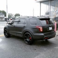 ford explorer concave rims wheels blackonblack