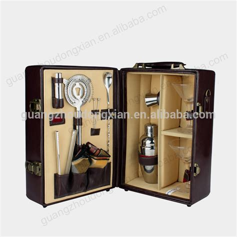 Bar Accessories Gifts Wooden Box Stainless Steel Wine Accessories Gift Set For