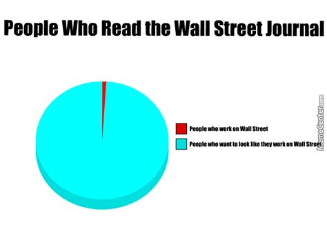 Journal Meme - people who read the wall street journal by recyclebin