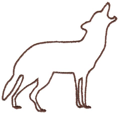 Outlines Of Wolves by Howling Wolf Outline Clipart Best