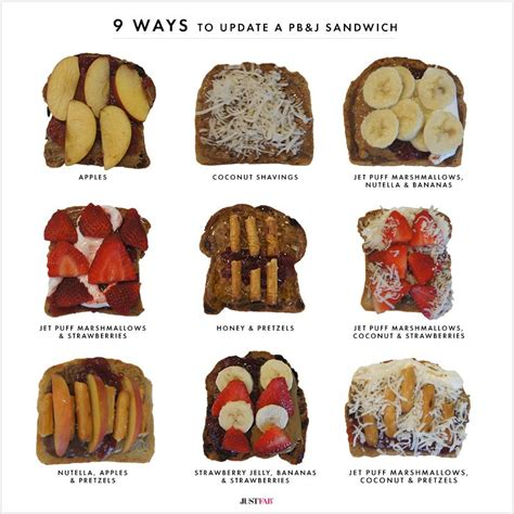Jelly All Type 9 ways to update a pb j sandwich the style edit