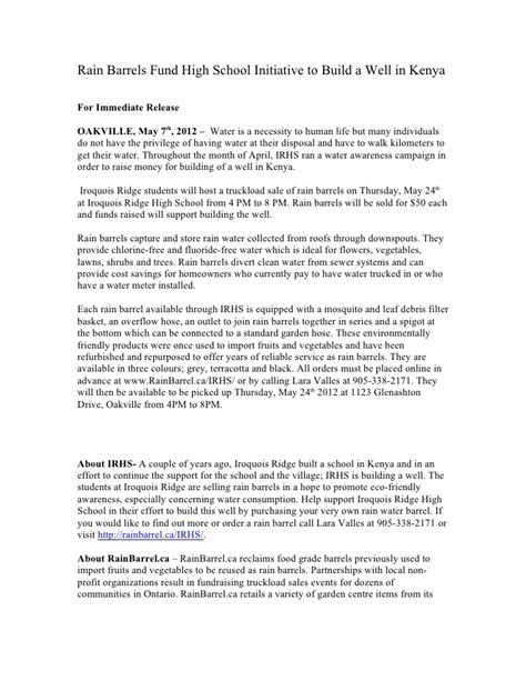 book press release template barrel sle press release