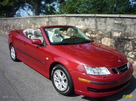 saab convertible red 2006 chili red metallic saab 9 3 2 0t convertible