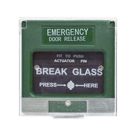 Break Glass Emergency Door Release Unix Cctv Glass Door Release
